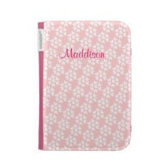 Baby Pink White Sweet Hearts Pattern Case For The Kindle