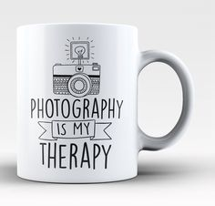 Photography is my therapy! The perfect coffee mug for any proud photographer! Order yours today. Take advantage of our Low Flat Rate Shipping - order 2 or more and save. - Printed and Shipped from the