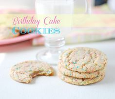 Love these birthday cake cookies from @Buttercream Bakehouse!