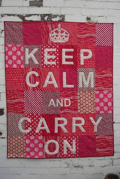 amazing. thinking about learning how to quilt and making one that says keep calm and love chi o :D