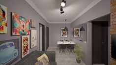 Projeto de Interiores - Apartamento S&A Sala de Jantar/ Estar e TV
