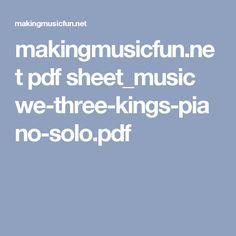 makingmusicfun.net pdf sheet_music we-three-kings-piano-solo.pdf
