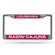 Louisiana Lafayette ULL Ragin Cajuns Laser Chrome License Plate Frame