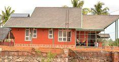 vajid-unique-house-malappuram-side Prefabricated Houses, Eco Friendly House, House Built, House Plans, Brick, House Styles, Building, Unique, Outdoor Decor