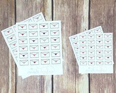 24 Heart Letter Stickers – Perfect for Erin Condren, Plum Paper Planner, Inkwell Press, Filofax, Scrapbooking & More