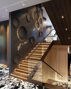 Amazing Luxury Interior Design That Will Make Your Home Inspiration Decoration Modern Staircase Amazing decoration design Home Inspiration interior Luxury Staircase Wall Decor, Stair Walls, Stair Decor, Diy Stair, Stairway Decorating, Staircase Ideas, Railing Design, Loft Design, Railing Ideas