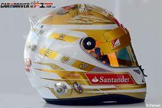 Fernando Alonso Helmet Monaco 2012