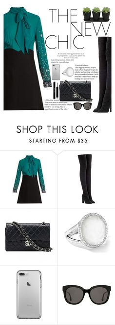 """Untitled #2173"" by anarita11 ❤ liked on Polyvore featuring Miu Miu, adidas Originals, Chanel, Ippolita and Gentle Monster"