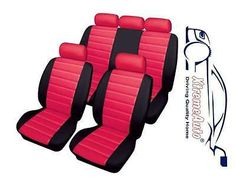 Bloomsbury #black/red #leather look car seat covers for #chevrolet alero, aveo, s,  View more on the LINK: http://www.zeppy.io/product/gb/2/291545254941/