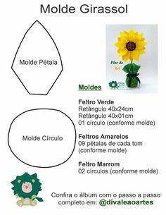 Best 11 Welcome to Lala Artes: Sunflower Door Weight Mold - SkillOfKing. Felt Flowers, Paper Flowers, Cardboard Crafts, Paper Crafts, Origami Table, Sunflower Crafts, Newspaper Art, Baby Patterns, Flower Making