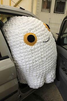 Huge Crochet Ghost by annettle, via Flickr