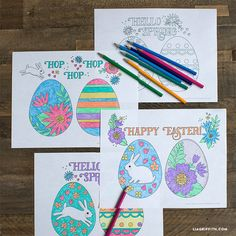 Download and print these free Easter coloring pages to entertain the kids this holiday! Hang them around your house, on your fridge, or make a DIY garland