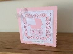 Baby girl card with Priam