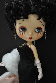 Betty Boop Custom Blythe ❥ OMG!OMG! It's Betty Boop Doll, she is beautiful.