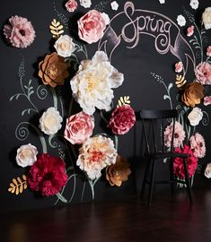 Cafe Interior Design, Cafe Design, Store Design, Flower Crafts, Diy Flowers, Paper Flowers, Babyshower Party, Papier Diy, Urban Rustic