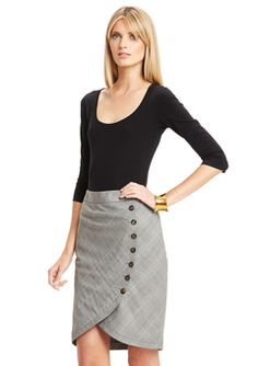 Love this side button skirt by Ted Baker!