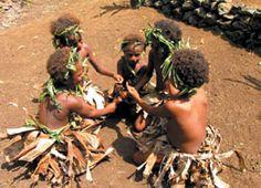 Local children playing at Vanua Lava Island.