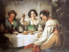 Wilhelm Marstrand  - Osteria romana - 1847