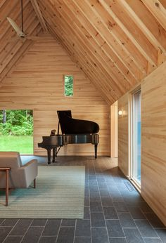 These pared-down cabins were built to inspire classical musicians - Curbed