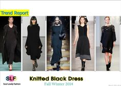Knitted Black Dress #Fashion Trend for Fall Winter 2014 #Fall2014 #Fall2014Trends #FashionTrends2014
