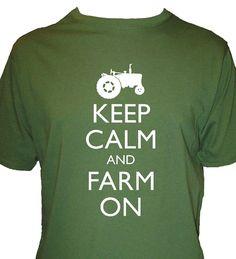 Keep Calm and Farm on Shirt  Farming Shirt  Mens by redbrickwall