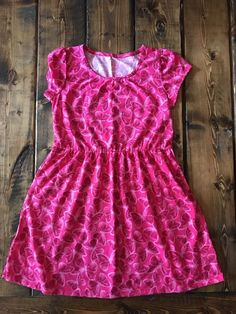 a06f151c8e133 $2.99 Auction Faded Glory Pink Butterfly Dress Size 7–8 Girls | eBay  #sundress
