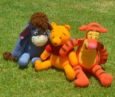 Pooh Family by Hooked on Handicrafts. See us on Facebook and please like our page. Orders taken