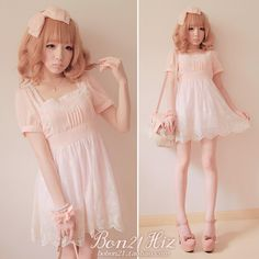 BOBON21 {exclusive} produced good temperament sweet fairy WTA yarn embroidery lace dress D0828-Taobao