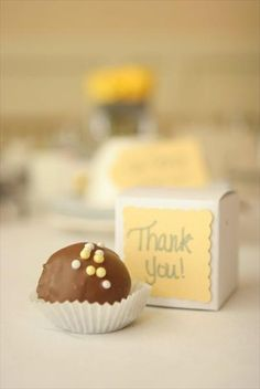 thank you gift (cake batter truffles!!!!!!)