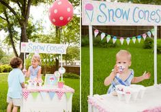 Snow Cone Party- for kids of all ages!