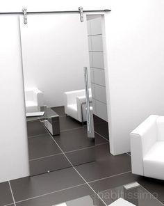 porta de correr para banheiro com espelho - Pesquisa Google