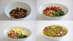 perşembe Turkish Breakfast, Healthy Recepies, Bruschetta, Dog Food Recipes, Beans, Brunch, Vegetables, 1, Foods