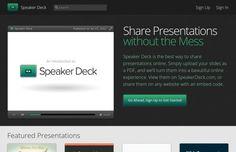 Speaker Deck es una utilidad web gratuita con la que podemos generar presentaciones o pases de diapositivas a partir de nuestros documentos en formato PDF.