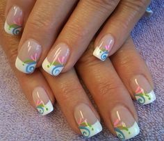 summer swirl by aliciarock - Nail Art Gallery nailartgallery.na... by Nails Magazine www.nailsmag.com #nailart