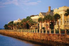 The Battery, Charleston, SC. The mansions are still here from way back in time
