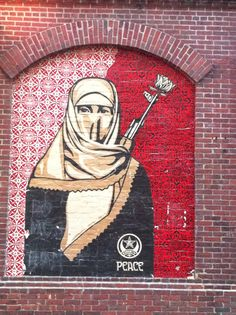 A beautiful Shephard Fairey piece in Harvard Square