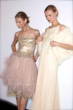 Anna Selezneva & Magdalena Frackowiak, Backstage Ralph Lauren F/W 2009