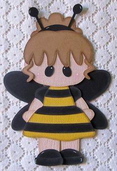 Girl Bumble Bee Paper Piecing Scrapbook