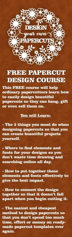 FREE Papercut Design Course