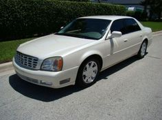 cadillac dts pearl white