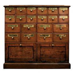 19th Century English Oak Apothecary Cabinet - $9500.