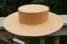 DIY Cardboard Hat Tutorial - Juliette Gordon Low hat!  These would be great to decorate for Kentucky Derby Hats!!!