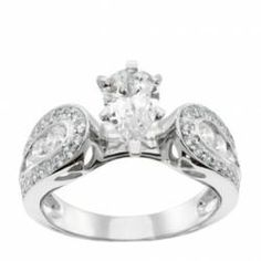 #ingrid with pear center -affordable engagement ring, ecofriendly #weddings