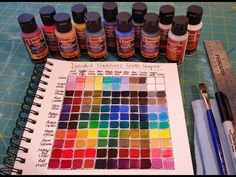 Creating a Color Mixing Guide Chart | Acrylic Painting Tutorial - YouTube