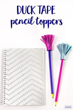 Make these adorable Pencil Toppers out of Duck Tape!  The perfect craft to get the kids pumped for back to school!