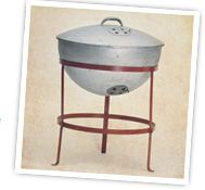 In 1952 whilst working at Weber Bros. Metal Works George Stephen cut a metal buoy in half, added legs and the lidded kettle barbecue was bor...