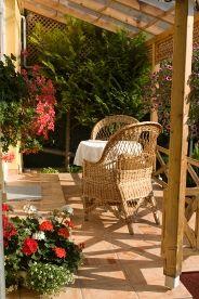 Front porch furniture on pinterest porch furniture - Jardines en terrazas ...