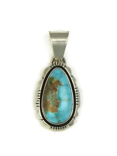 Southwest Silver Gallery features a natural Pilot Mountain turquoise pendant by Navajo artist, Cooper Willie. We have a large selection of authentic Native American pendants to choose from! Metal Jewelry, Boho Jewelry, Custom Jewelry, Women Jewelry, Copper Cuff, Hammered Copper, Turquoise Pendant, Turquoise Jewelry, Handmade Silver