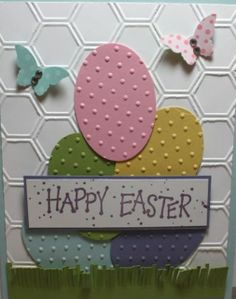 Fun Personalized Handmade Easter Card Designs cards handmade Fantastic Fun Handmade Easter Card Designs for Personalized Greetings Tarjetas Stampin Up, Egg Card, Cricut Cards, Creative Cards, Easter Crafts, Easter Ideas, Diy Cards, Scrapbook Cards, Scrapbooking Layouts