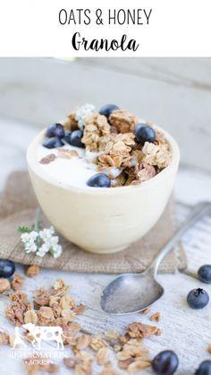 Oats & Honey Granola- I love the sweet & crunchy oat clusters! So good :)
